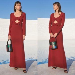 NWT Staud Lido Maxi Dress (Garnet)